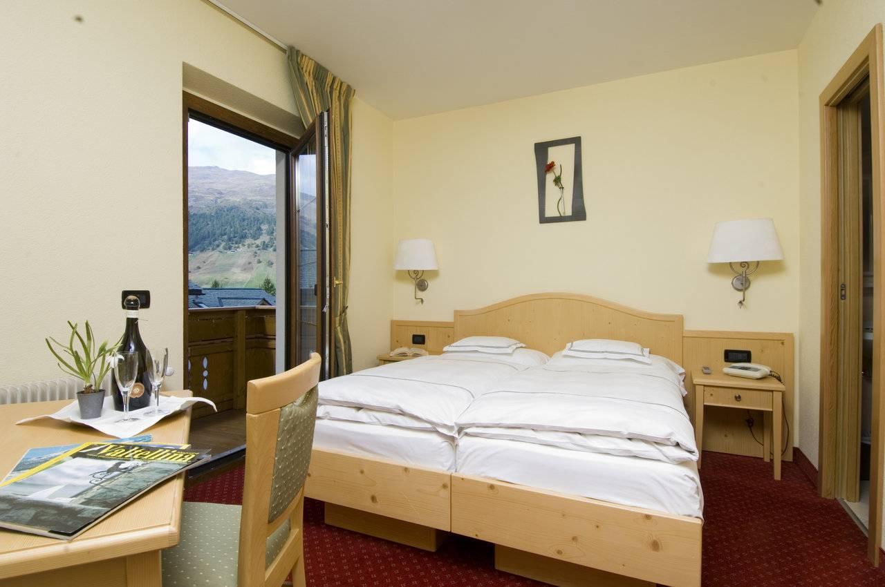 Prospettiva camera doppia - hotel del Bosco a Livigno