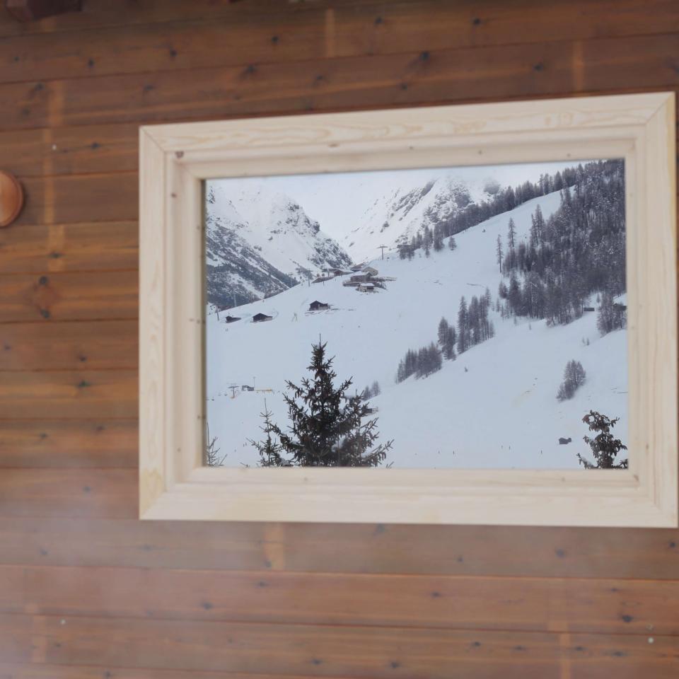 Particolare sauna finlandese a Livigno