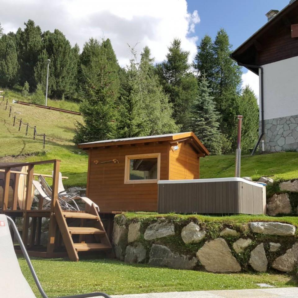 Esterno sauna finlandese - Livigno