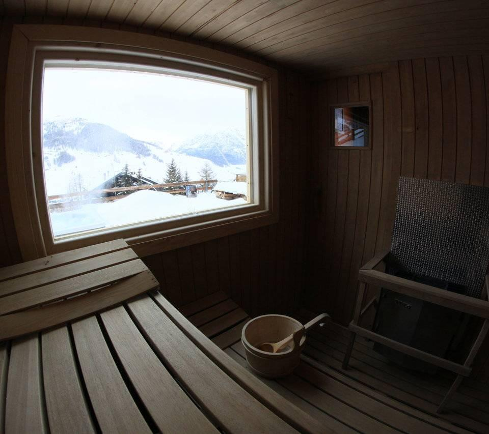 prospettiva della sauna finlandese a Livigno