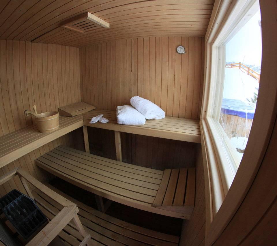 Sauna finlandese a Livigno: area Wellness