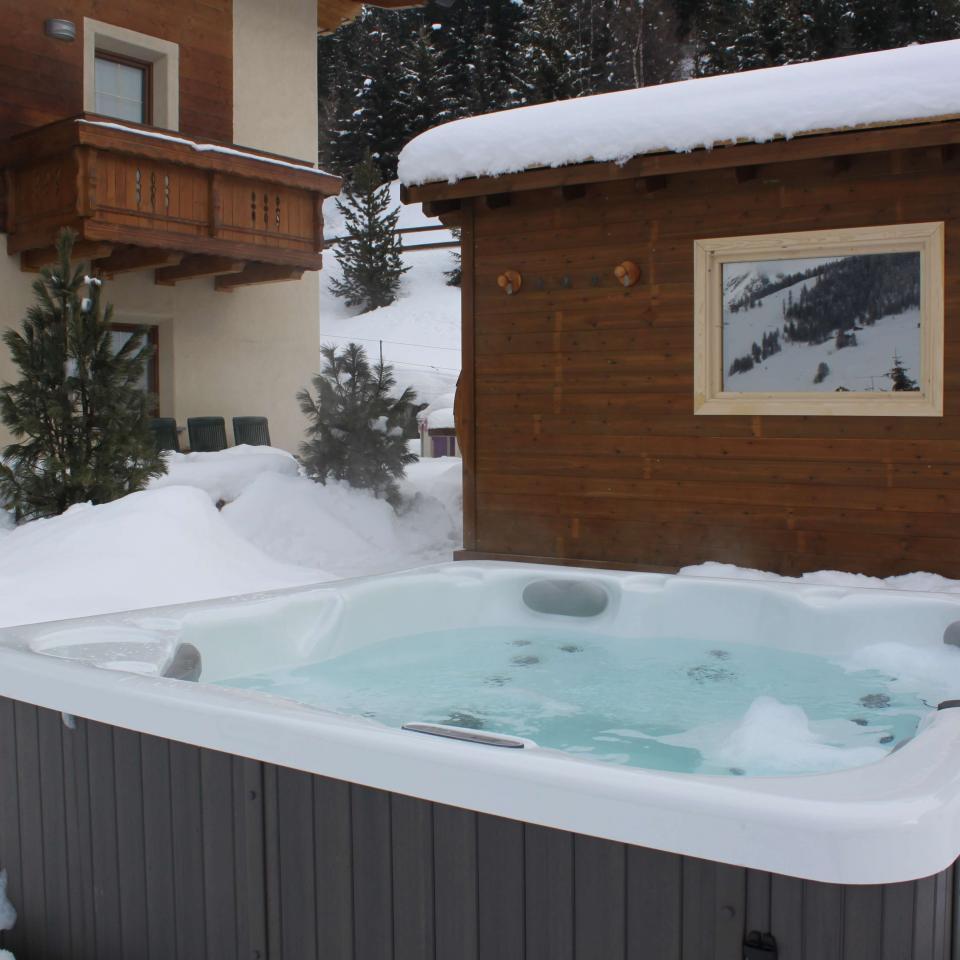 prospettiva Vasca idromassaggio riscaldata a Livigno