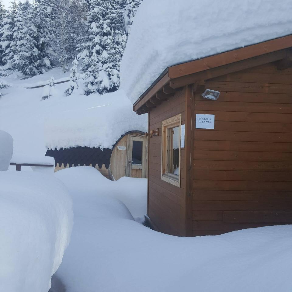Area Relax: foto da esterno in inverno