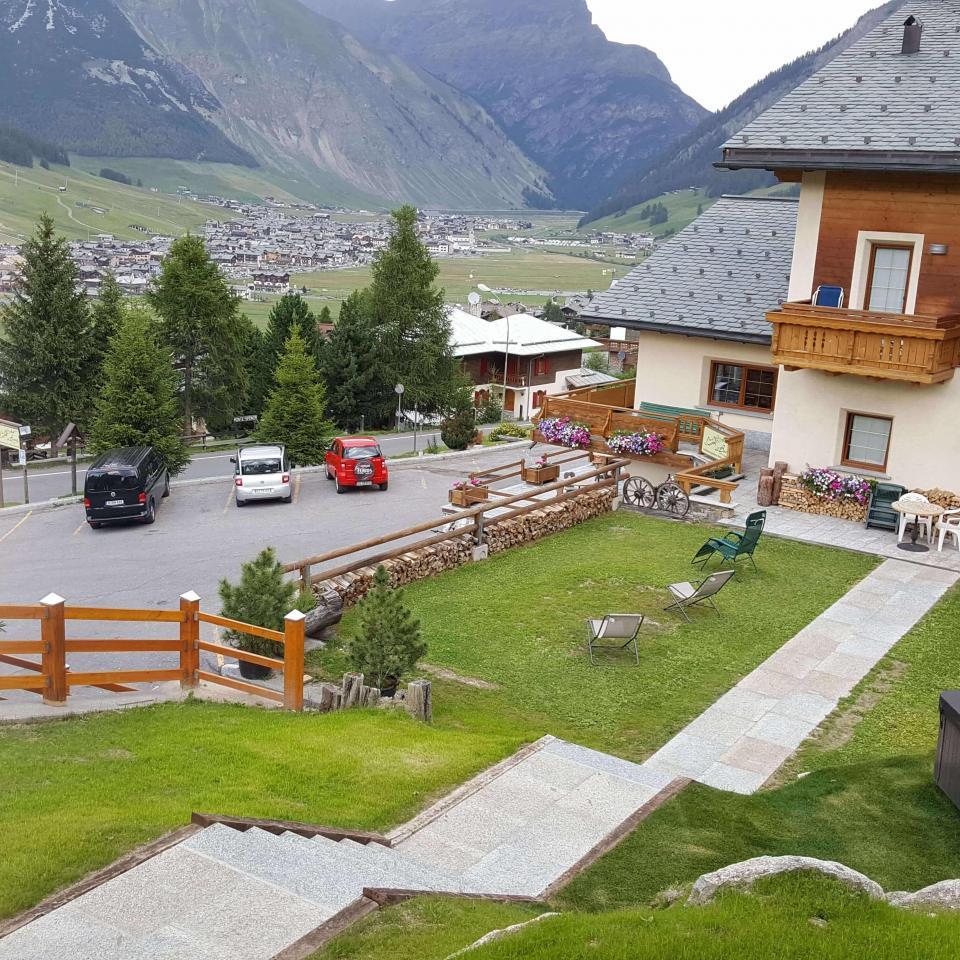 Il solarium di Hotel del Bosco a Livigno