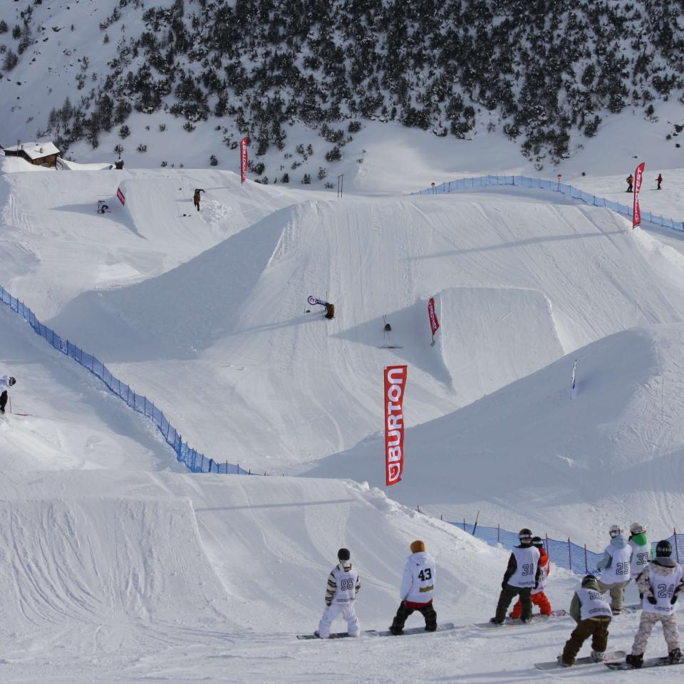 Lo snowpark del Mottolino a Livigno